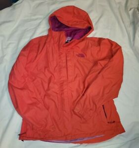WOMENS-RED-MAGENTA-NORTH-FACE-JACKET-WINDBREAKER-RAIN-COAT-MEDIUM-HYVENT