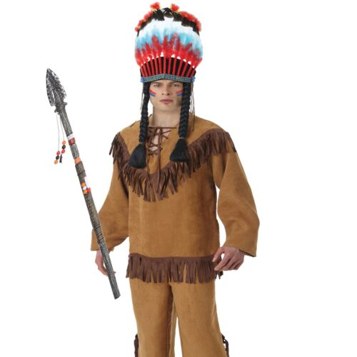 Tribal Native American Red Indian Prop Wild West Top Costume Plastic Accessory