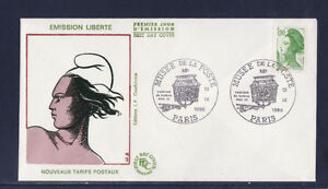 enveloppe-1er-jour-Liberte-1-90-vert-musee-de-la-poste-1986