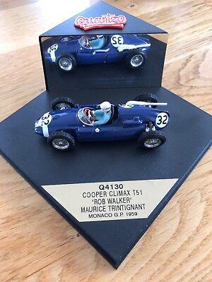 Amichevole F1 Gran Premio Di Monaco Cooper Climax Rob Walker Maurice Trintignant Quartzo Q4130-mostra Il Titolo Originale Reputazione In Primo Luogo
