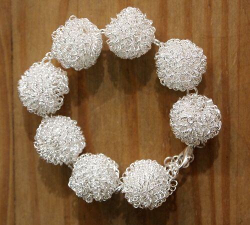 Un Bellissimo Argento Sterling 925 Braccialetto palline di neve