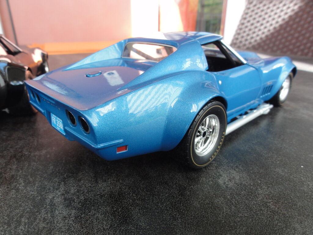 1 1969 Vette Corvette Chevy Race Sport Car Car Car Racer 18 Vintage 43 Rare 24 Metal 12 b641c9