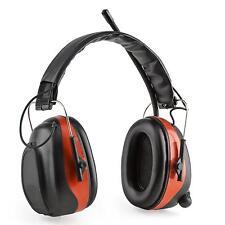 Casque de protection audition anti bruit chantier travaux Bluetooth SNR rouge