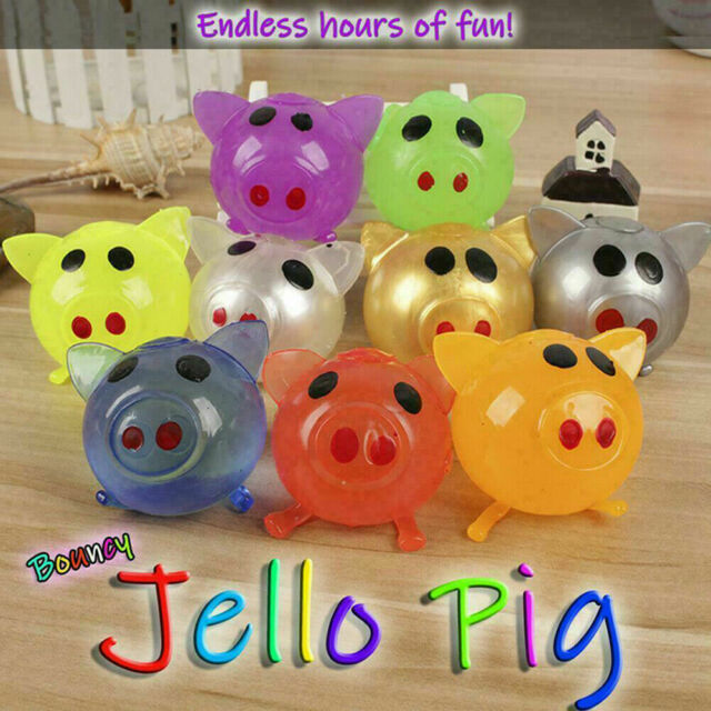 1Pc Jello Pig Anti Stress Toy Autism Squeeze Splat Water Pig Ball Vent Toy Gift