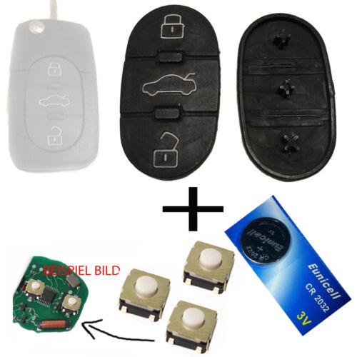 batterie boutons poussoir Pour Audi a3 a4 a5 a6 tt Clavier Funkschlüssel clés