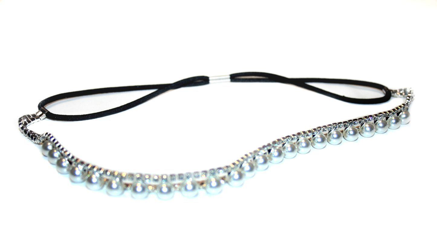 Bridal Crystals and Pearls Headband, Hair Accessory, Great Gatsby Headband.