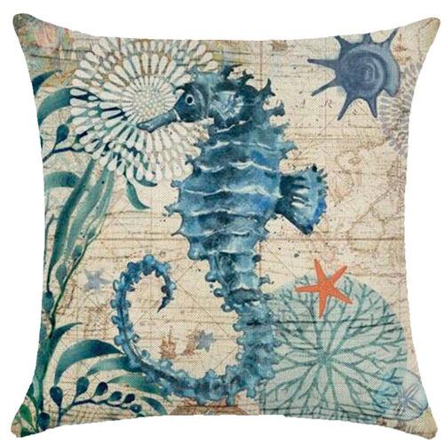 Vintage OCEAN PLAGE MER en lin taies d/'oreiller Throw Cushion Cover 45 cm