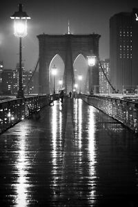 59x20 NEW YORK CITY ART PRINT Brooklyn Bridge NYC by Richard  Berenholtz Poster