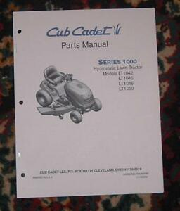 cub cadet lt1042 lt1045 lt1046 lt1050 parts manual ebay rh ebay com LT1045 Steering Parts ltx 1045 parts manual
