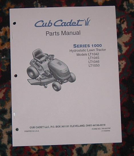 Cub Cadet Lt1045 Illustrated Parts List Catalog Manual Ebay. Cub Cadet Lt1042 Lt1045 Lt1046 Lt1050 Parts Manual. Wiring. Series 1000 Lt1050 Cub Cadet Wiring Diagram At Scoala.co
