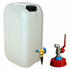 15 L Wasserkanister Metallhahn Entlüftungshahn  (22096+MHD61+22259)