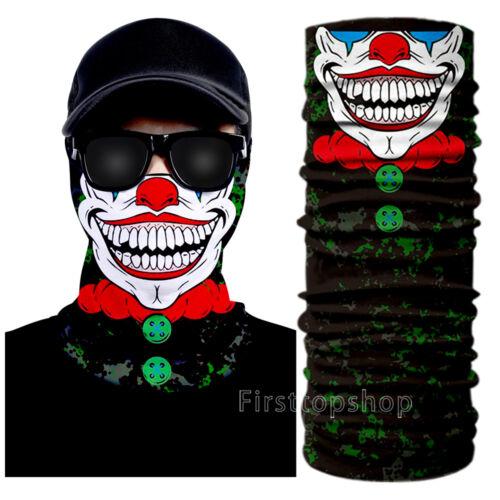 Skull Headwear UV Reversible Joker Twisty Face Mask Bandana Neck Scarf Fishing