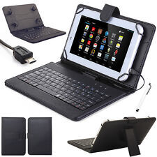 Lichi Black Micro USB Keyboard Leather Case Cover For Amazon Kindle Fire HD 8""