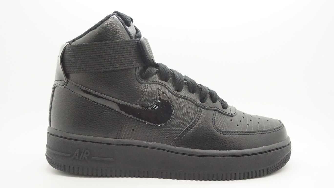 Nike Air Force 1 de Alto Mujer Mujer Mujer Zapatos Negro Metálico Plata  sin mínimo