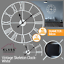 EXTRA-LARGE-ROMAN-NUMERALS-SKELETON-WALL-CLOCK-40-60CM-BIG-GIANT-OPEN-FACE-ROUND miniatura 58