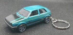 Hotwheels-volkswagen-golf-mk2-keyring-diecast-car