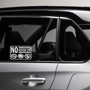NO-SMOKING-FOOD-OR-DRINK-Decal-Sticker-Sign-Door-Windows-Car-Driver-Bumper-Cool