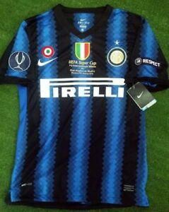 buy online 1e019 66598 Details about INTER MILAN RETRO SHIRT 2010 SUPER CUP FINAL, ZANETTI, ETO'O,  Sizes S M L XL