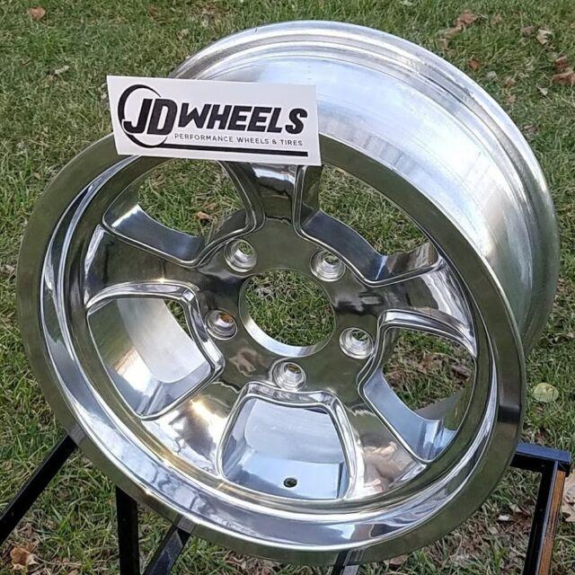 "Buy 3 Get 1 Free Tires >> JD Wheels 15x7 Halibrand Replica 612 5x5 (4"" Bs) GM Chevy ..."