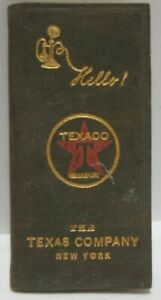 Old Miniature Advertising Texaco Telephone Directory Book The Texas Co New York