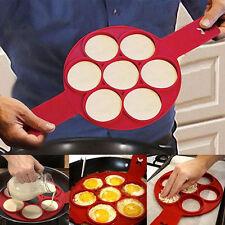 Flippin' Fantastic Nonstick Pfannkuchen Easy Fancy Pancake Mold Maker Eggs Ring