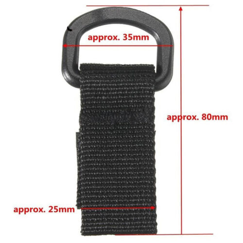 Tactical Molle D Ring Buckle Webbing Belt Hook Portable Multifunction Carabiner