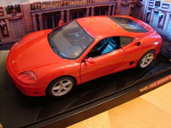1/18 Ferrari 360 Modena V8 Coupe Rosso Rara Hotwheels Ultima Tecnologia