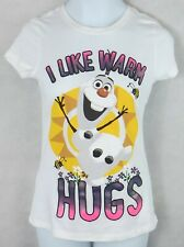"""AGES 18-24 MONTHS-8 YEARS NEW FROZEN/'S /'/'I LOVE WARM HUGS/"""" GIRL/'S T-SHIRT"""