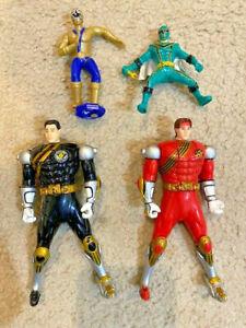 POWER RANGERS! WILD FORCE SPIN ACTION Flip Head Black Ranger and Red Ranger!