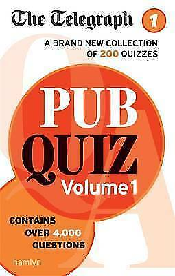 1 of 1 - The Telegraph: Pub Quiz Volume 1 (The Telegraph Puzzle Books) by THE TELEGRAPH M