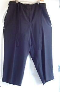 PLUS SIZE REFINED BLACK DRESS PANTS BY AVENUE: SIZE 22