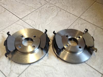 FORD FOCUS MK 1  1 6 1 8 98-04 TWO VENTED FRONT BRAKE DISCS/& PADS AND REAR SHOES