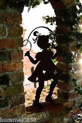 GroßZüGig Edelrost Kind Mit Springseil Figur Rost Eisen Gartendekoration Garten Terrasse Dekoration