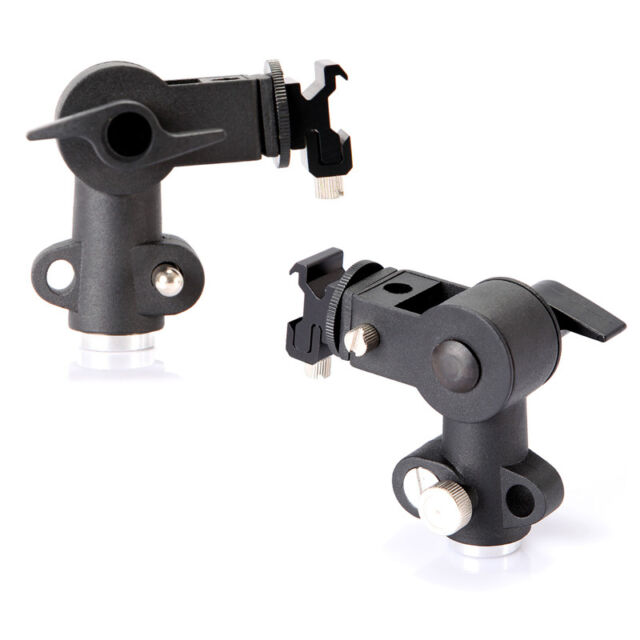 Flash Mount Swivel Light Stand Speedlite Bracket Umbrella Holder D Type UK