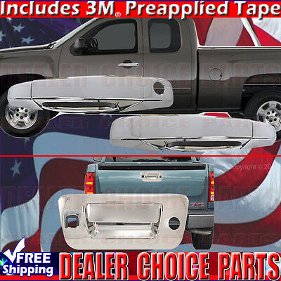 For 2007-2014 GMC Sierra 1500 2DR Chrome Door Handle Covers