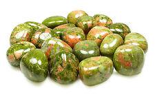 TUMBLED - (2) MED/LG UNAKITE Crystals w/Description Card - Healing Stone Reiki