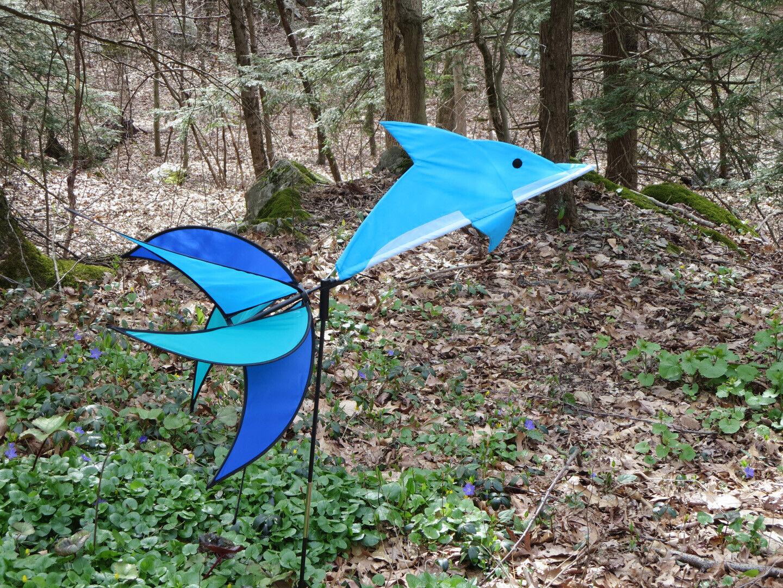 Fish Fishy Pinwheel Wind Spinner Yard Fun Outdoor Whirligig Windwheel
