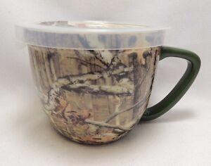 Image Is Loading Mossy Oak Camouflage Microwave Soup Coffee Mug Bowl