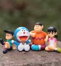 4pcs Doraemon Shizuka Minamoto Takeshi Goda Drami Doranikov Figures cake toppers