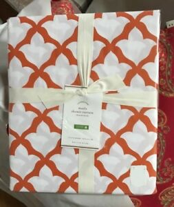 Pottery Barn Lana Shower Curtain Gray 72 Acanthus Leaf New