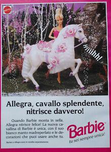 Pubblicita-Advertising-Werbung-Italian-Clip-1993-BARBIE-CAVALLO-ALLEGRA-MATTEL