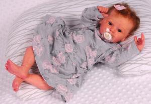 Kleid Baby Kleidchen 56 62 68 74 80 Babykleid Erstlingskleid Grau Rosa Blumen
