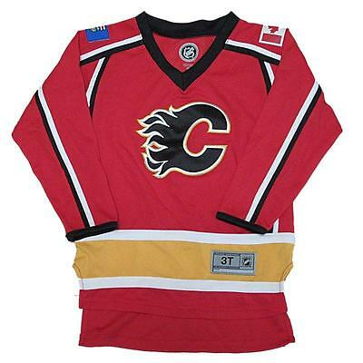 official photos 3fc4c d6177 New NHL Official NHL Calgary Flames Toddler Boys Hockey Jersey Size 3T |  eBay