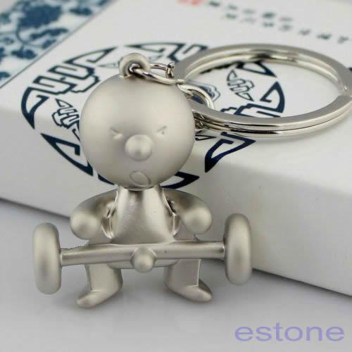 Silver Creative Classic Mr.P Boy Key Ring Fob Keychain Funny Keyring Chain Gifts