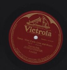 Frances Alda on 78 rpm Victor 74400: Tosca-Vissi d'arte