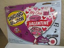 """SING A TUNE VALENTINE HEART BALLOON """"YOU'RE THE ONE THAT I WANT"""" SINGING 29"""""""