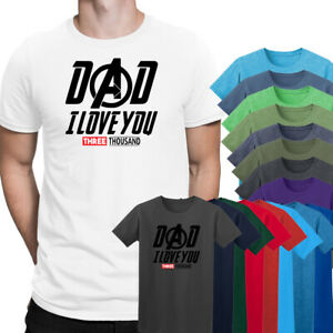 08b0be9d Fathers Day Dad I Love You 3000 T Shirt Tony Stark Movies Inspired ...