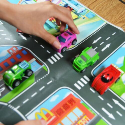 Kids City Road Play Mat Car Town Traffic Road Educational Carpet Rug Toy Playmat
