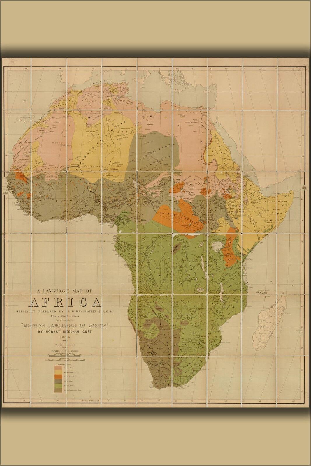 Poster, Molte Misure; Lingua Mappa Africa