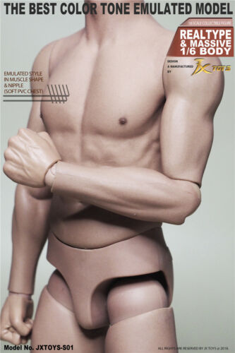 """1//6 Scale JXtoys S01 Male 12/"""" Figure Body New For Collection IN STOCK"""